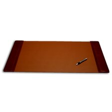 1000 Series Classic Leather 34 x 20 Side-Rail Desk Pad in Mocha