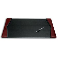 7000 Series Contemporary Style Leather 25.5 x 17.25 Side-Rail Desk Pad in Burgundy
