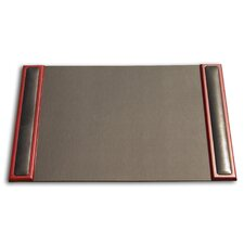 8000 Series Rosewood and Leather 25.5 x 17.25 Desk Pad