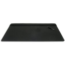 1000 Series Classic Leather 34 x 20 Top-Rail Desk Pad in Black