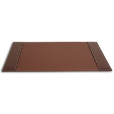 3200 Series Leather 25.5 x 17.25 Side-Rail Desk Pad in Rustic Brown