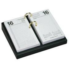 1000 Series Classic Leather 3.5 x 6 Calendar Holder Base in Black
