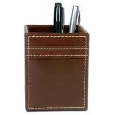 3200 Series Leather Pencil Cup in Rustic Brown