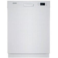 Ful-sized Semi Built-in Dishwasher in White (Energy Star Certified)