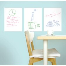 Whiteboard Wall Decal (Set of 3)