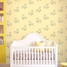 """2.17' x 26"""" Bunny Up Figural Wallpaper"""