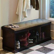 Brookwood Wooden Storage Entryway Bench
