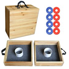 Premium Birch Wood 10 Piece Washer Toss Game Set