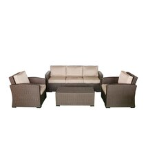 South Seas Sofa 4 Piece Seating Group with Cushions