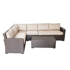 South Seas Corner Sectional 5 Piece Seating Group with Cushions