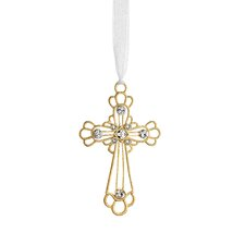 Crystal Cross Ornament