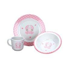 Gingham Bunny 3-Piece Dinnerware Set