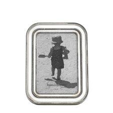 Heritage Banded Bead Pewterplate Frame