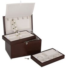 """Haley"" Jewelry Chest with 2 Trays"