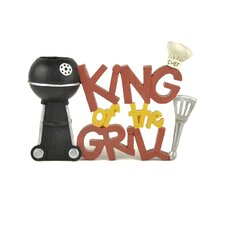 """""""King Of The Grill"""" with Grill Toothpick Holder (Set of 2)"""