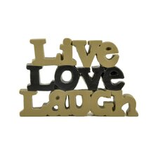 """Live Love Laugh"" Letter Block (Set of 2)"