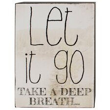 Let It Go Box Sign Wall Art (Set of 4)