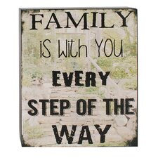 Family is with You Box Sign Wall Art (Set of 2)
