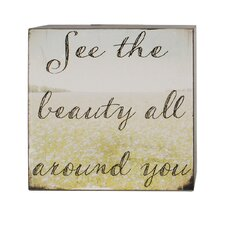 See The Beauty Box Sign Wall Art (Set of 4)