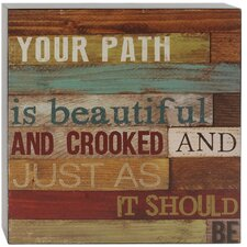 'Path Is Beautiful' Box Sign Wall Décor