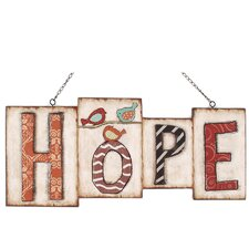 Hope Hanging Sign Wall Décor