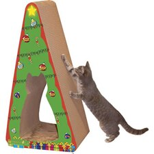 Scratch 'n Shapes 2 piece Christmas Tree Recycled paper  Scratching Post
