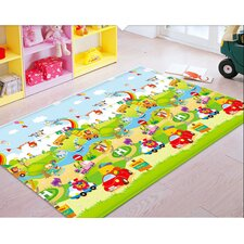 Yellow Bear Car Racing Soft Mat