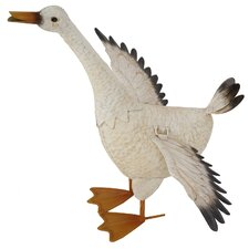 Steel Flapping Duck Figurine
