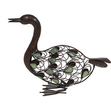 Glow in the Dark Beaded Sitting Duck Statue