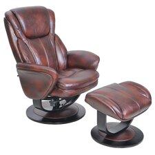 Roma Pedestal Chair and Ottoman