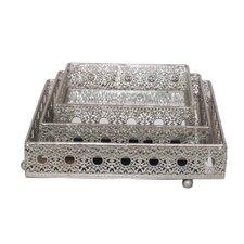 3 Piece Pierced Tray Set