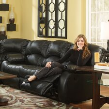 Continental'' Leather Reclining Sofa