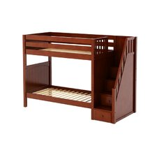 WOPPER High Panel Bunk Bed with Staircase on End