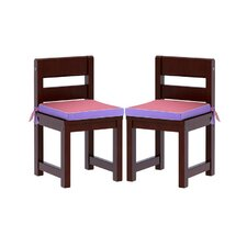 Kids Chair with Seat Pad (Set of 2)
