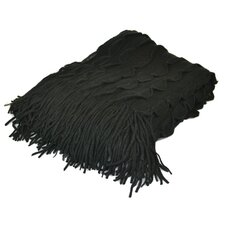 Cashmere Republic Scallop Edge Wool Blend Throw Blanket