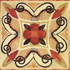"""""""Bohemian Rooster Tile Square"""" by Daphne Brissonnet Painting Print"""