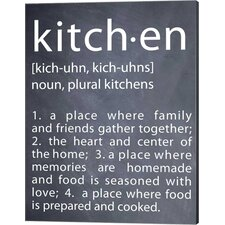 'Kitchen' by Susan Newberry Textual Art on Canvas in Black and White