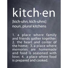 'Kitchen' by Susan Newberry Textual Art in Black and White