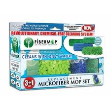 Fibermop 4 Piece Replacement Microfiber Mop Pad Set