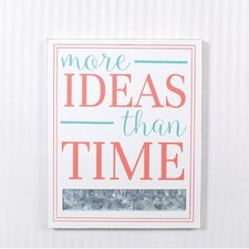 Ideas Sign with Magnet Strip Wall Décor
