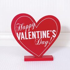 Happy Valentine's Day Heart on Base Wall Décor