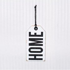"""Home"" Wood Tag Wall Decor"