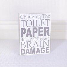 """Change Toilet Paper"" Wood Sign Wall Decor"