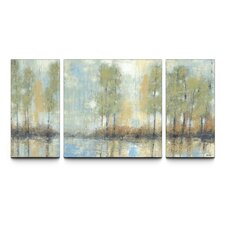 Through the Mist Textured 3 Piece Painting Print on Canvas Set