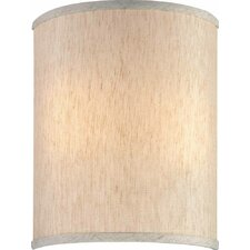 """9"""" Linen Drum Wall Sconce Shade"""
