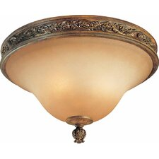 Venetian 3 Light Ceiling Fixture Flush Mount