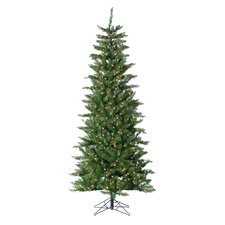 HB 7' Narrow Augusta Pine Christmas Tree with 350 Multi Lights with Stand