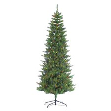 HB 7.5' Narrow Augusta Pine Christmas Tree with 400 Multi Lights with Stand