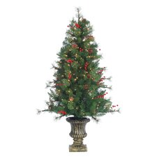 HB 4.5' Potted Christmas Tree with 200 Clear Lights with Pot