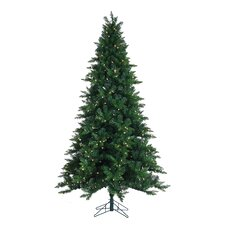 HB 7.5' Long Wood Christmas Tree with 480 Ul Dual LED Lights with Stand